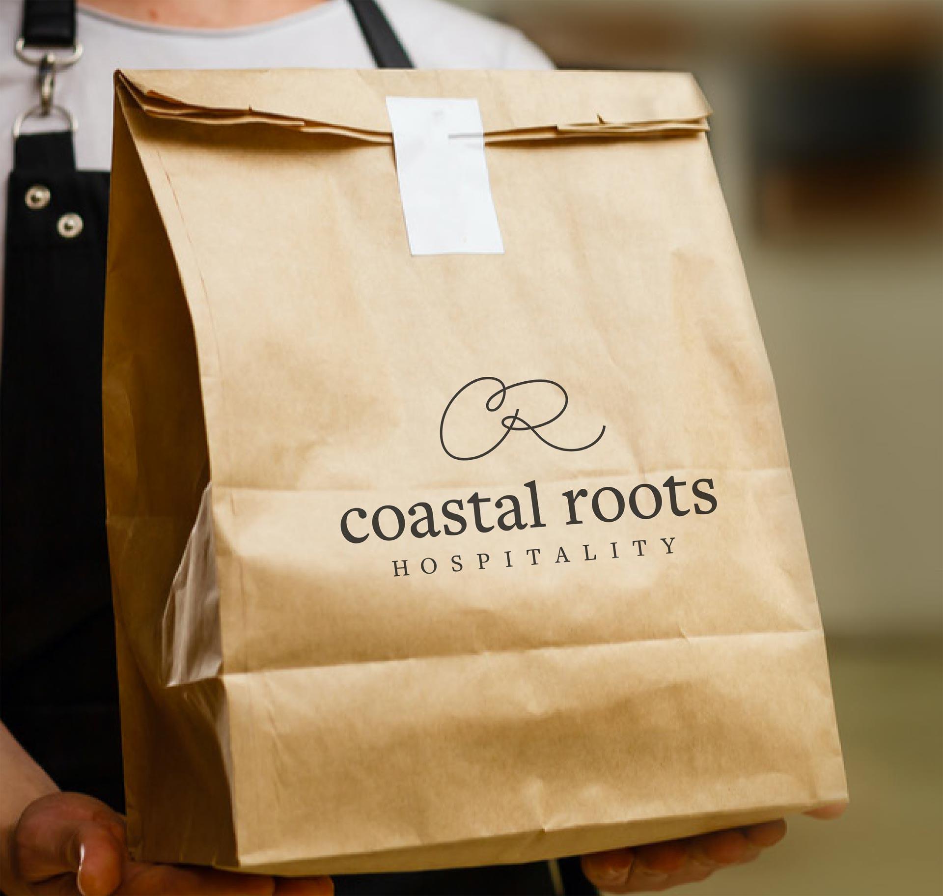Coastal Roots Hospitality - takeout bag